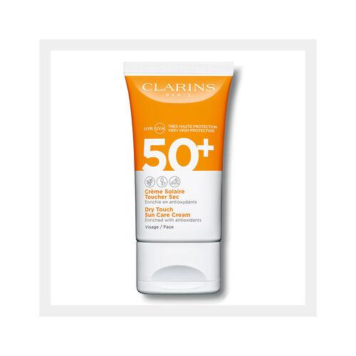 Crème Solaire Toucher Sec Visage UVA/UVB 50+