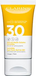 Gel-en-Huile Solaire Invisible Visage UVA/UVB 30