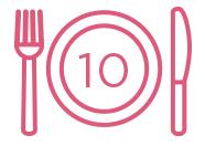 10 refeições escolares