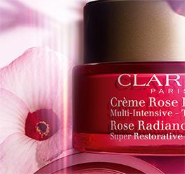 Embalagem Crème Rose com flor de hibisco