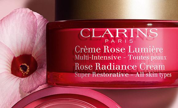 Frasco Crème Rose Lumière com hibisco
