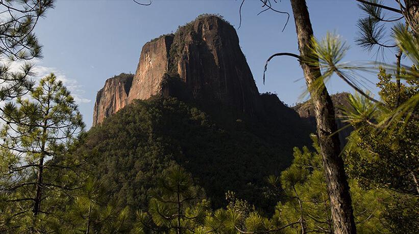 Paisagem de uma montanha