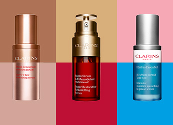 Composition des serums Clarins